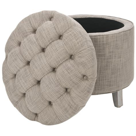 Gray Tufted Storage Ottoman Tufted Storage Ottoman In Gray Beautiful Things