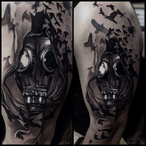 tattoo junkies aftercare a dark black and grey tattoo piece by artist mike demasi