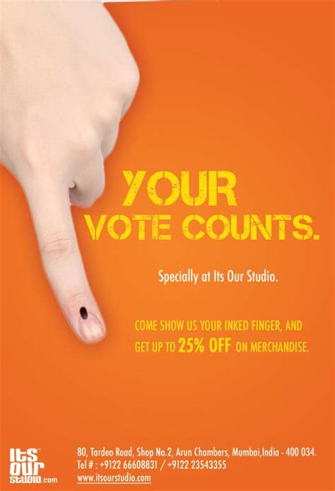 Discount For Voters Rock The Vote And Save Second City Style Fashion by Only For Mumbaikars Voting In Mumbai Can Get You A Free
