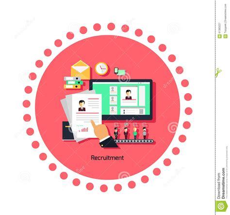 pattern development jobs recruitment concept icon flat design cartoon vector