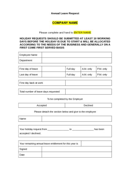 staff holiday form template the best holiday 2017