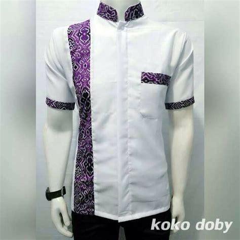 Baju Koko Batik Kemeja Koko Batik Hem Koko Batik 1 jual baju koko hem batik pria lengan pendek 5 di lapak