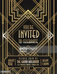 deco templates deco style vintage invitation design template vector