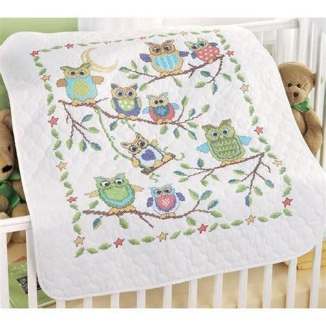Baby Quilt Cross Stitch by Baby Owls Baby Quilt Sted Cross Stitch Kit By
