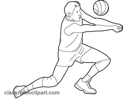 Sports Player Outline sports player 05 outline classroom clipart