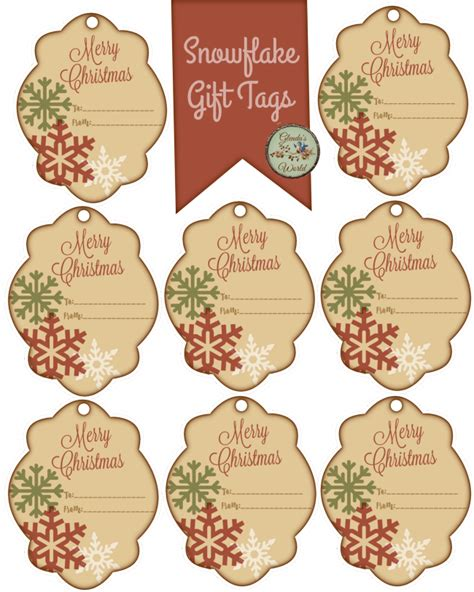 printable snowflake tags christmas with glenda snowflake gift tags