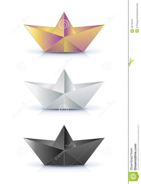 Paper Ship Origami - origami paper ship royalty free stock images image 28710519
