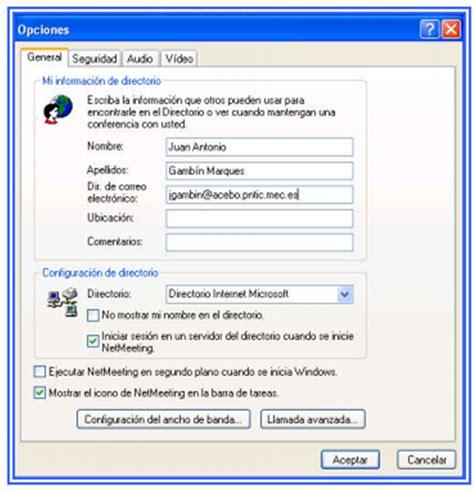 ejecutar escritorio remoto escritorio remoto compartido en netmeeting
