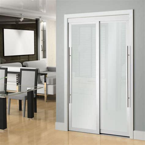 white framed frosted sliding door barn doors