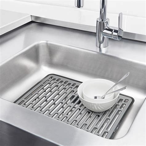 large sink mat grips large sink mat the container store