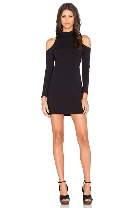 Dress Ketat Cut Shoulder lyst twenty shoulder cut out mini dress in black