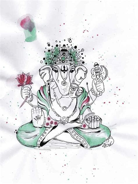 ganesha tattoo watercolor 64 best images about ganesh on pinterest henna vector