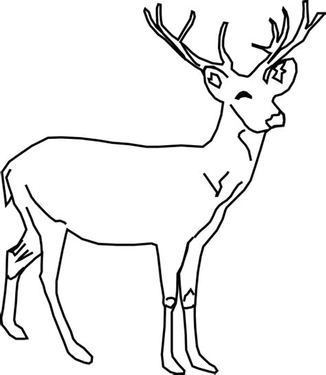 sketchbook untuk gingerbread deer clip at clker vector clip