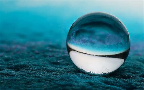 wallpaper blue glass close up blue glass ball wallpaper