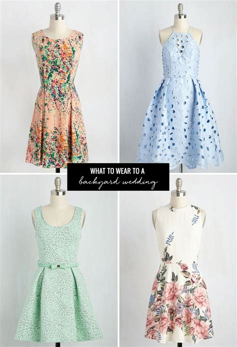 what to wear to a backyard wedding what to wear to a summer wedding with modcloth green