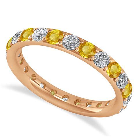 Yellow Sapphire 5 85 Ct Memo yellow sapphire eternity wedding band 14k