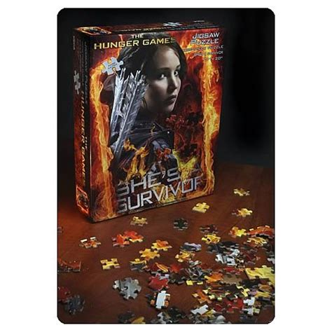 film jigsaw puzzles hunger games movie she s a survivor jigsaw puzzle neca