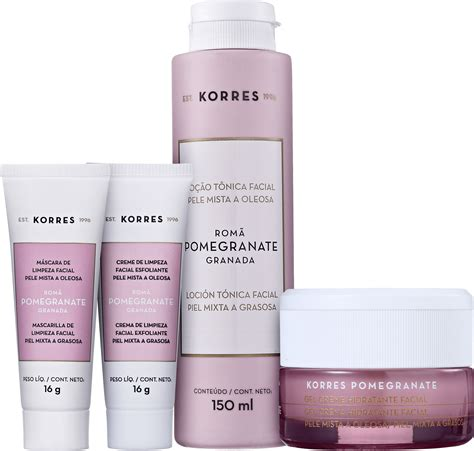 Bidara Skincare 4 kit korres pomegranate skin care 4 produtos beleza na web