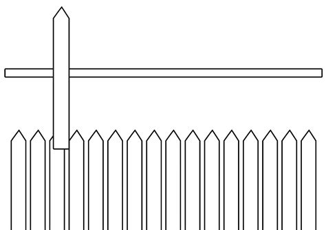 fence clip black and white clipart panda free
