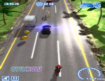cilgin motorcular cilgin bir trafik oyunu oyun kolu
