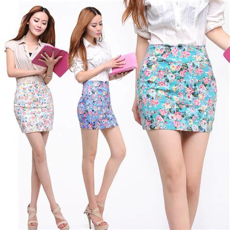 Syall Wanita Motif Bunga 03 17 model rok pendek modern terbaru untuk remaja modis