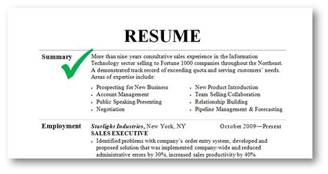 How To Write A Summary For A Resume by How To Write A Summary For A Resume All Resume Simple