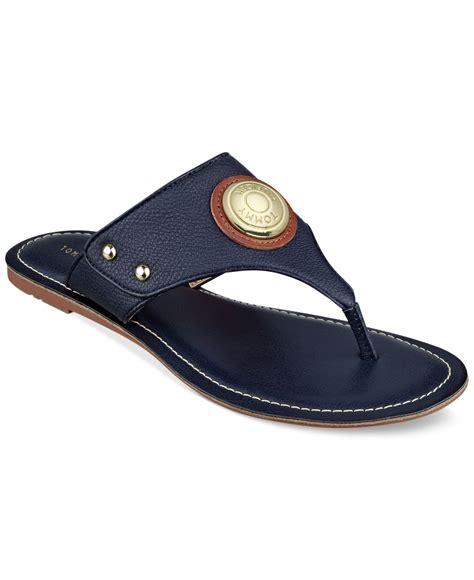 hilfiger sandals hilfiger lelani sandals in blue lyst
