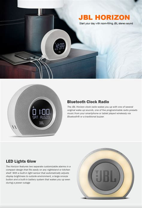 Jbl Horizon jbl horizon speaker bluetooth radio clock with usb charging and ambient light