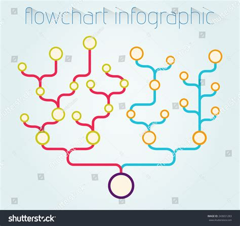 flowchart infographic vector template usable hierarchy