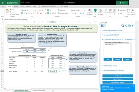 excel online frontline systems releases next generation solver add in