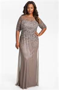plus size women s adrianna papell beaded illusion gown