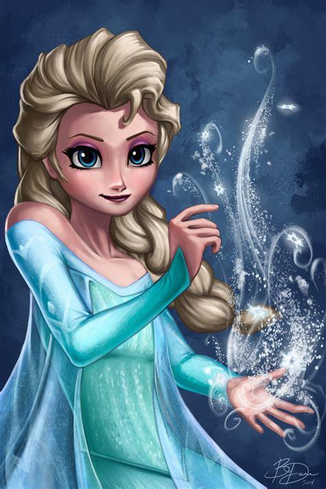 elsa painting frozen elsa by imdrunkontea on deviantart