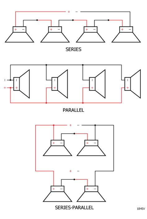 parallel wiring 5 speakers 8 ohm speakers wiring diagram