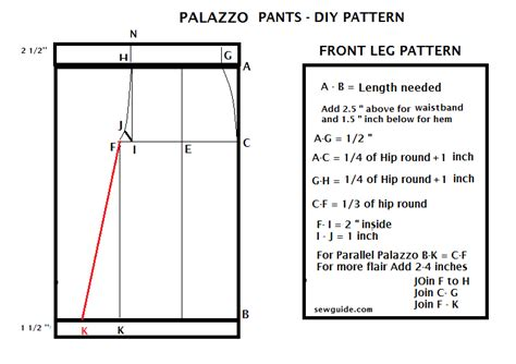 plazo pant cutting how to make palazzo pants free diy pattern sew guide