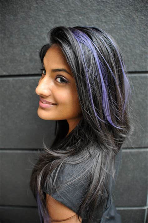 modern black hairstyles with a streak of grey what are hidden highlights beautylish