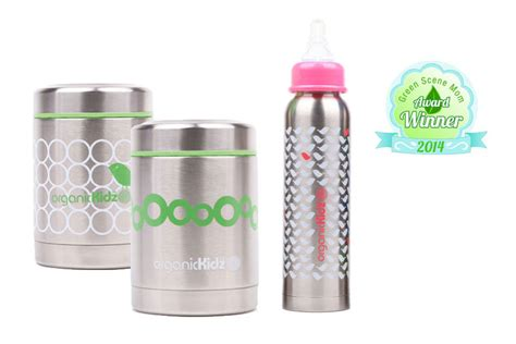 organickidz thermal baby bottles food containers
