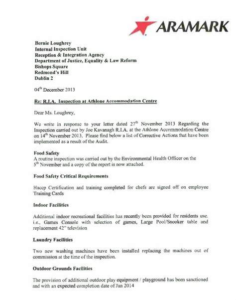 Response Letter To Seekers Athlone Asylum Seekers Refuse Food Www Rabble Ie
