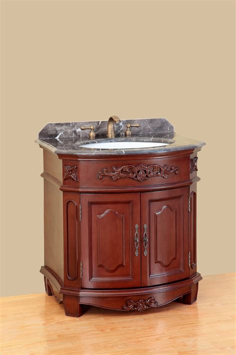bosconi 32 inch antique single sink bathroom vanity cabinet