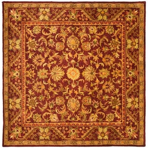 Area Rugs 8 X 8 Safavieh Antiquity Wine Gold 8 Ft X 8 Ft Square Area Rug At52b 8sq The Home Depot