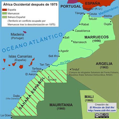espana y africa mapa el rincn de sidi ifni el avispero shara occidental