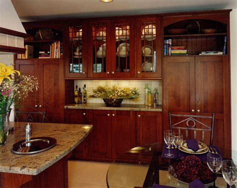 made arts crafts kitchen remodel of cherry wood by