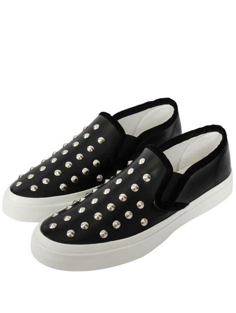 womens black slip on sneakers junya watanabe womens studded slip on shoes black in black