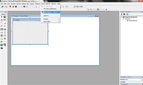 membuat menu dropdown di visual basic cara mudah membuat menu editor di visual basic 6 0