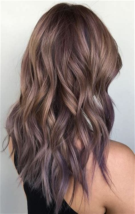 lilac higlights ash bronde and lilac tipped ombre hair color hair