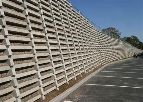 Concrete Crib Wall by Crib Block Walls United Crib Sydney Construction