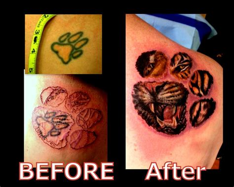 tattoo fixers new member cover up fix tattoo before and after tattoo tiger