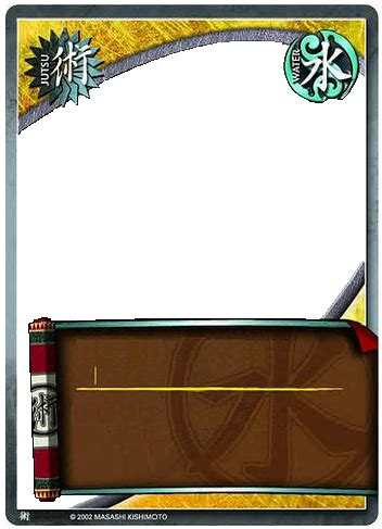 tcg card template ideas jutsu card template by dannyboy978 on deviantart