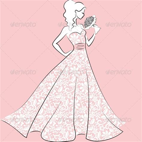Lace Wedding Dress Clipart by In Lace Wedding Dress By Prikhnenko Graphicriver