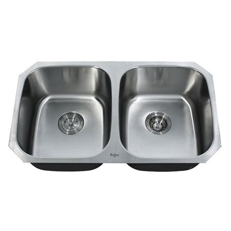 Lowes Kitchen Sinks Stainless Steel Kraus Kbu22 Undermount Basin Kitchen Sink Stainless Steel Lowe S Canada