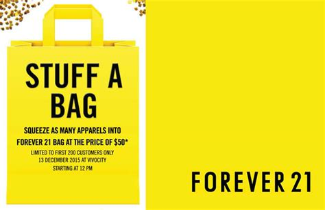 Can You Use Gift Cards Online Forever 21 - forever 21 vivocity stuff all you can 50 bag promotion starts 12pm 13 dec 2015